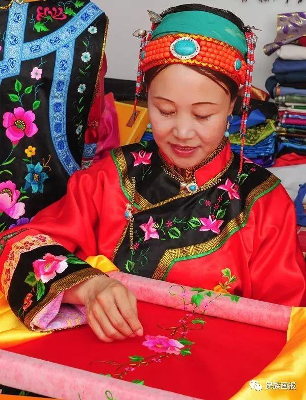 色彩|翁牛特旗蒙古族刺绣 第5张