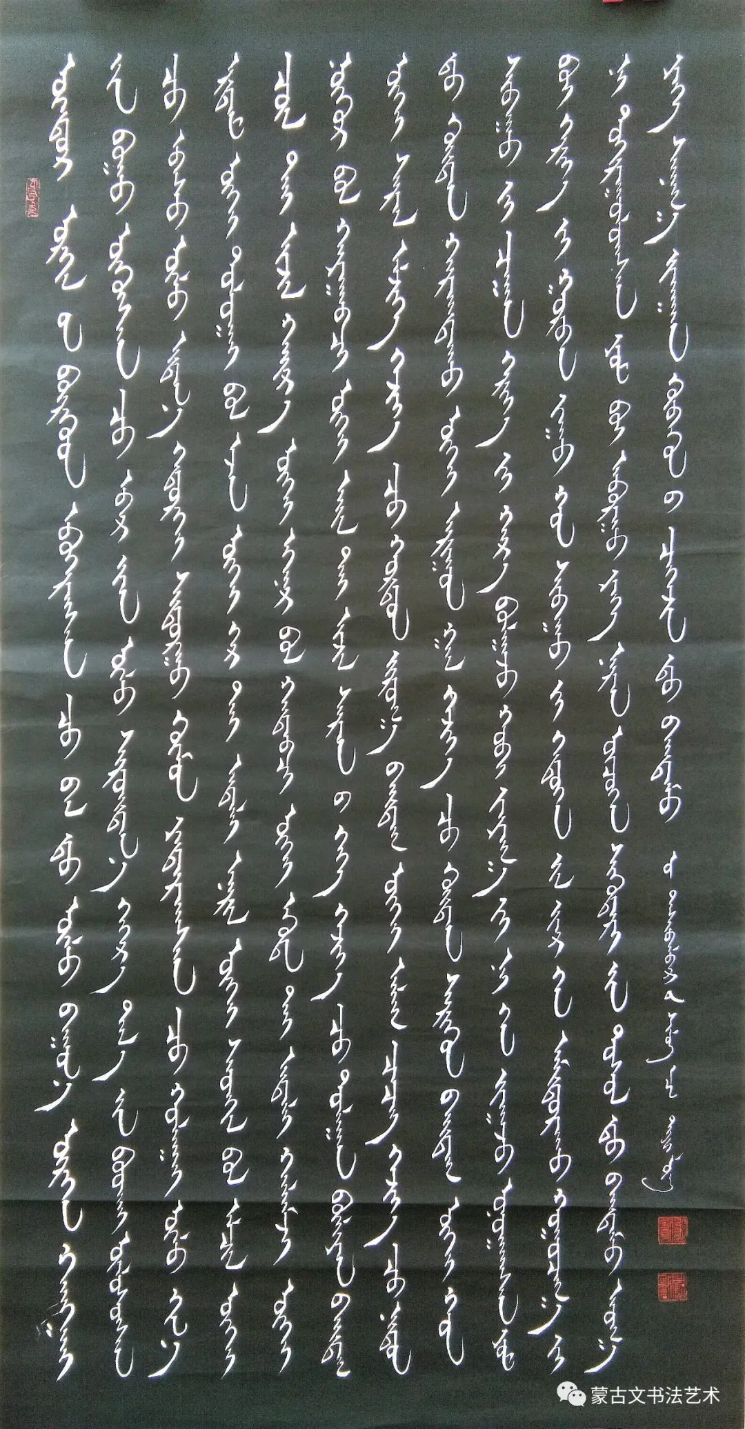 铁龙蒙古文书法 第12张