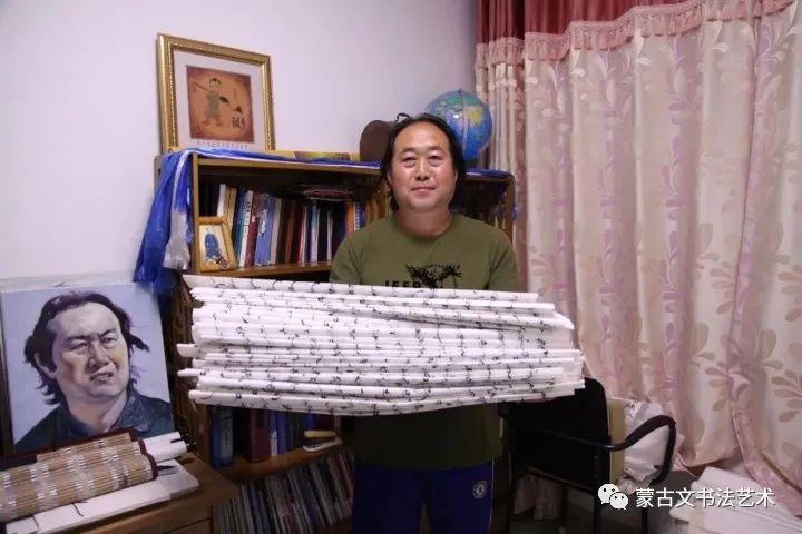 扎仁琴蒙古文书法 第1张 扎仁琴蒙古文书法 蒙古书法