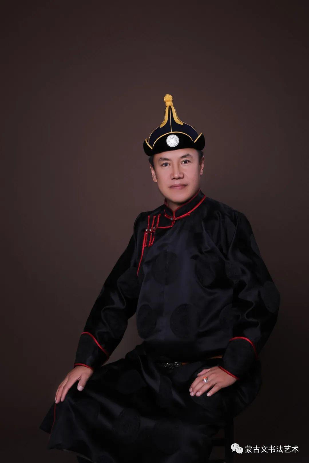 毕力格图蒙古文书法 第1张