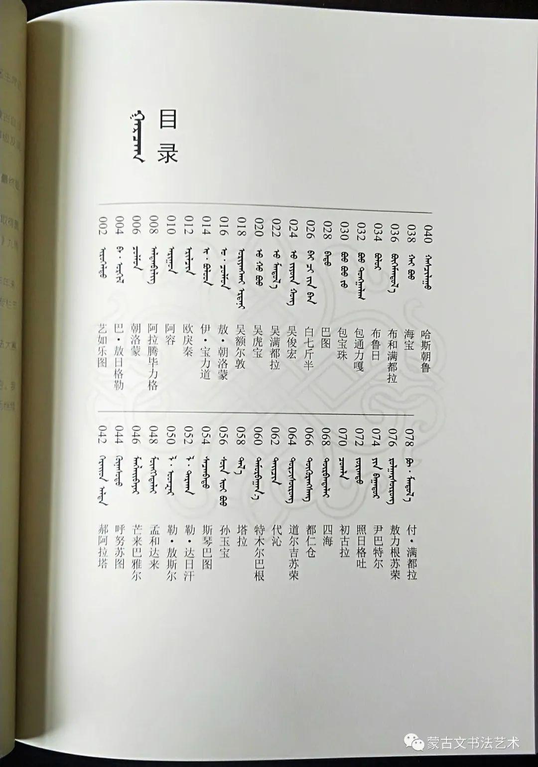 蒙古文书法全集 第27张