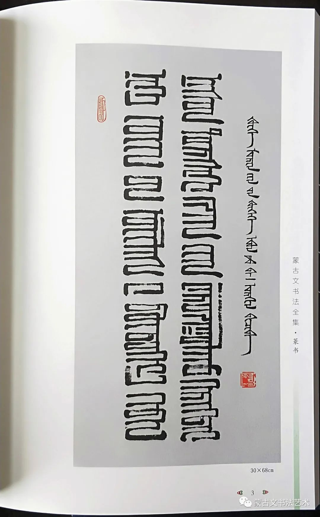 蒙古文书法全集 第33张