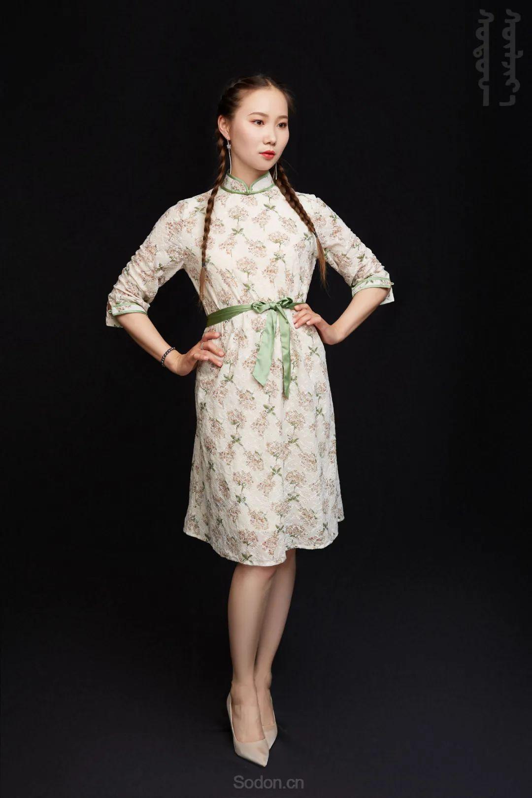 DOMOG蒙古时装2020新款夏季连衣裙首发,618钜惠七折! 第9张