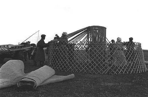老照片:1965年,法国摄影师拍摄文革前的内蒙古 第8张