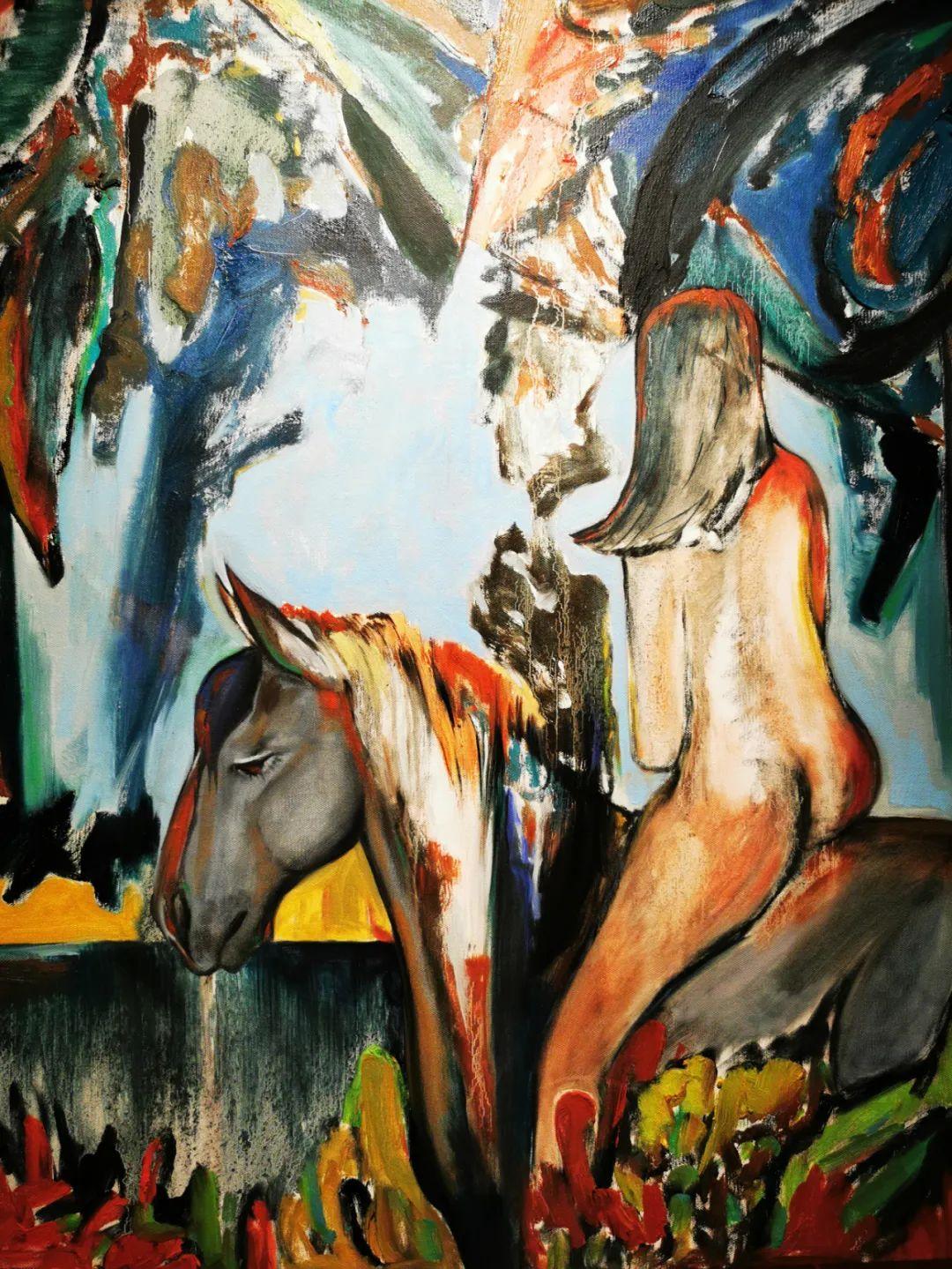 疫情期间蒙古国艺术家莫德格玛在中国创作了80余幅画作 第6张