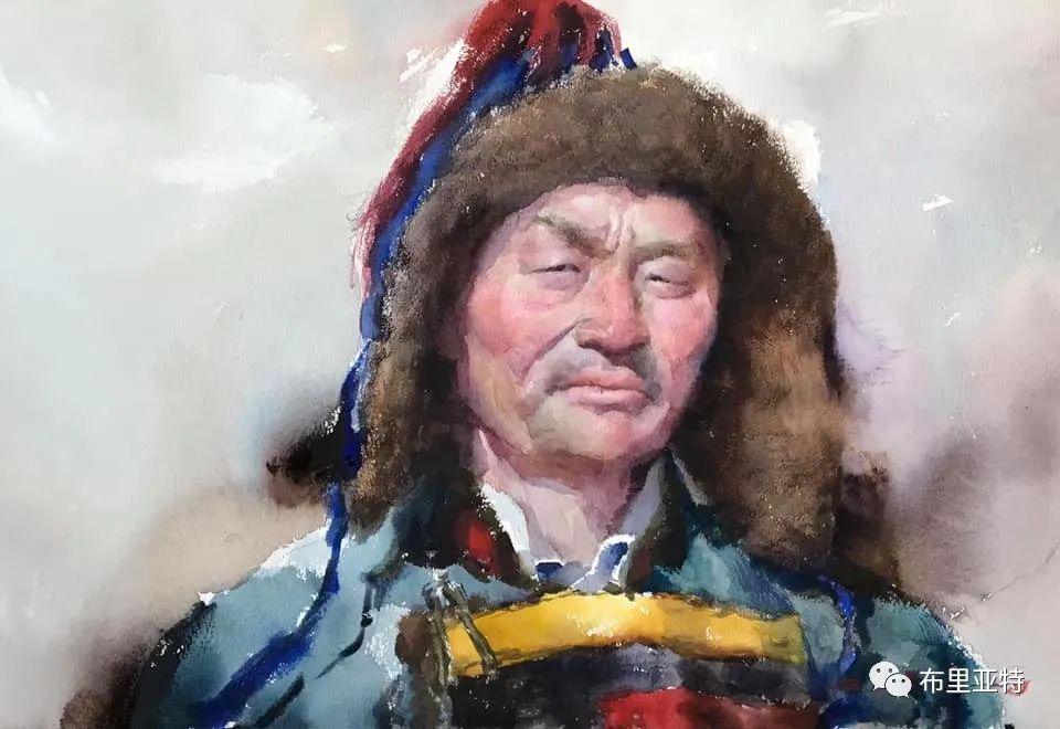 蒙古国少有的水彩画大师孟赫巴特尔作品欣赏 第2张