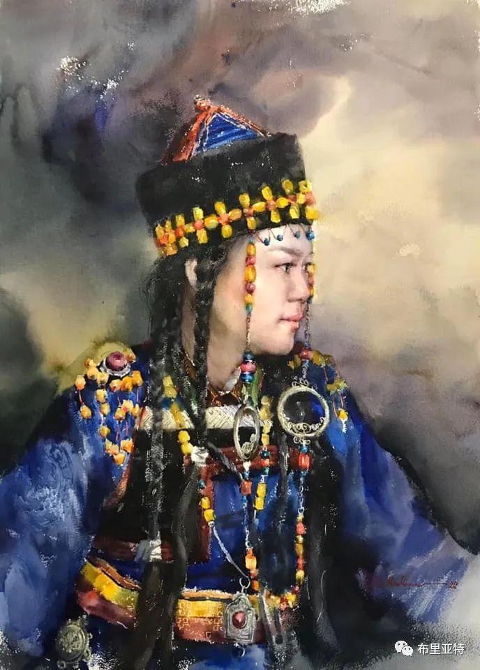 蒙古国少有的水彩画大师孟赫巴特尔作品欣赏 第8张