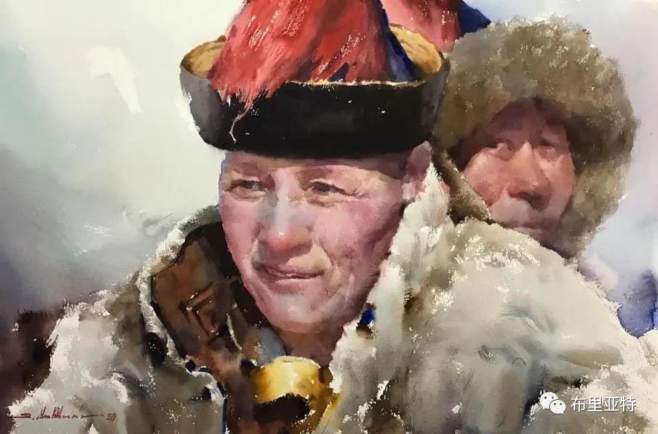 蒙古国少有的水彩画大师孟赫巴特尔作品欣赏 第7张