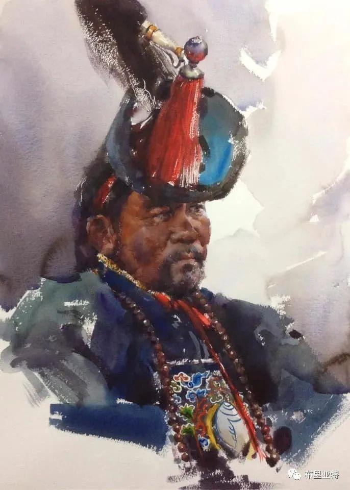 蒙古国少有的水彩画大师孟赫巴特尔作品欣赏 第11张