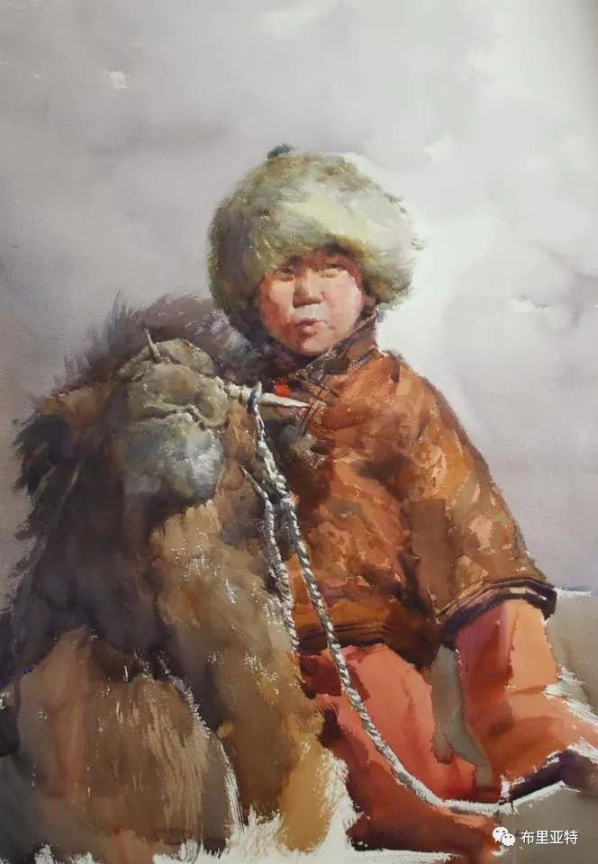 蒙古国少有的水彩画大师孟赫巴特尔作品欣赏 第13张