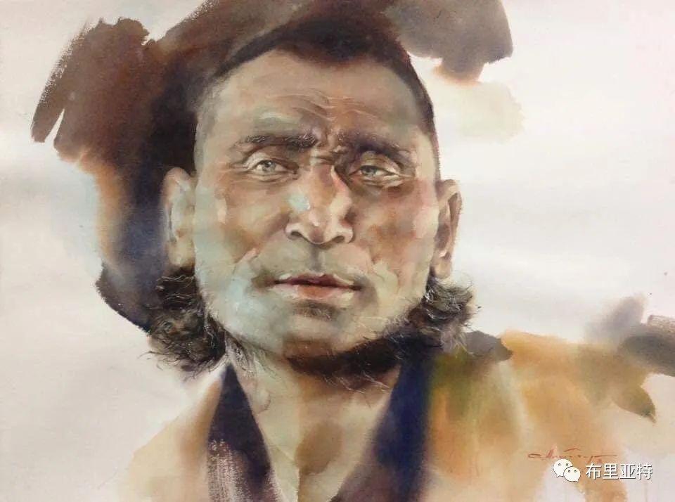 蒙古国少有的水彩画大师孟赫巴特尔作品欣赏 第16张