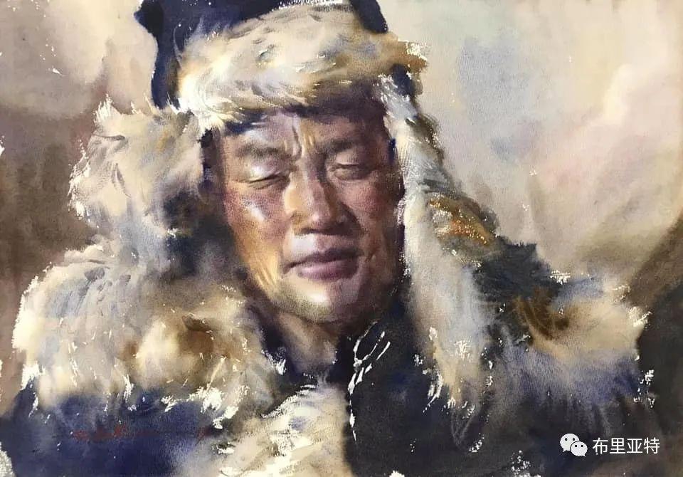 蒙古国少有的水彩画大师孟赫巴特尔作品欣赏 第12张