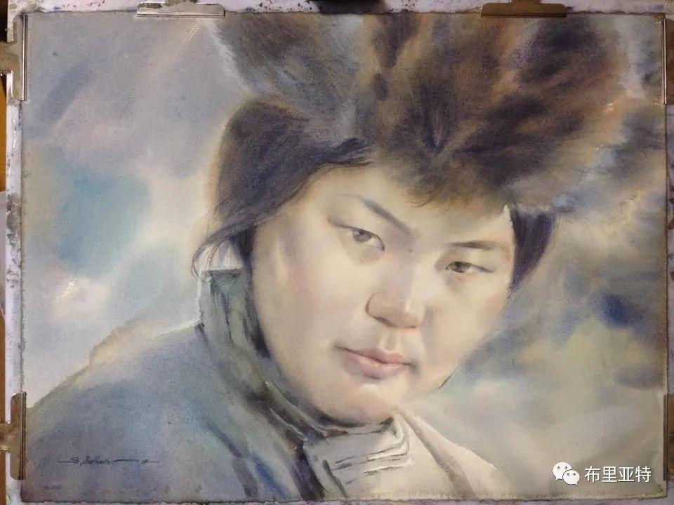 蒙古国少有的水彩画大师孟赫巴特尔作品欣赏 第15张