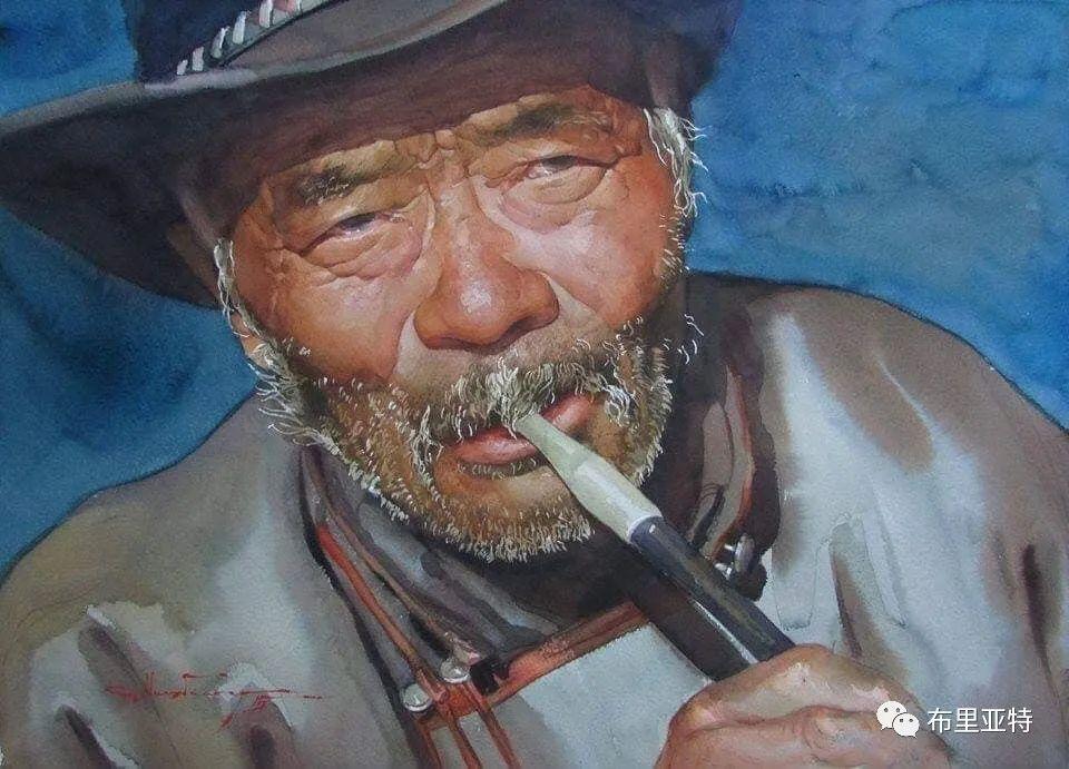 蒙古国少有的水彩画大师孟赫巴特尔作品欣赏 第14张