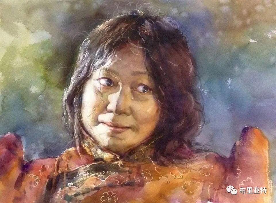 蒙古国少有的水彩画大师孟赫巴特尔作品欣赏 第18张
