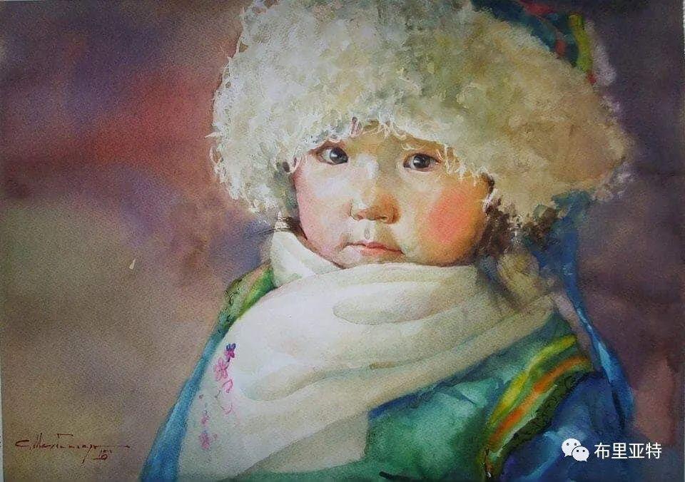 蒙古国少有的水彩画大师孟赫巴特尔作品欣赏 第20张