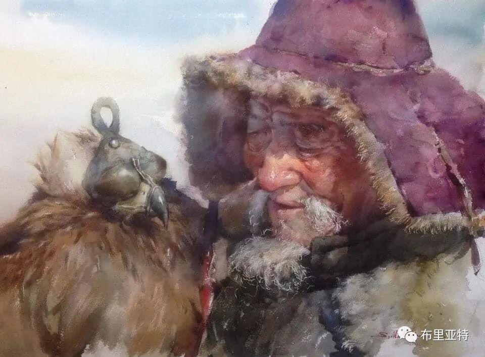 蒙古国少有的水彩画大师孟赫巴特尔作品欣赏 第17张