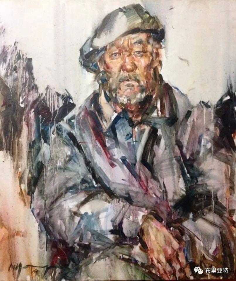 蒙古国少有的水彩画大师孟赫巴特尔作品欣赏 第25张