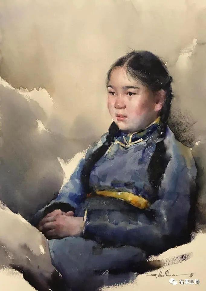 蒙古国少有的水彩画大师孟赫巴特尔作品欣赏 第24张