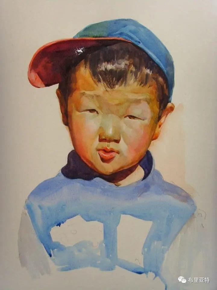 蒙古国少有的水彩画大师孟赫巴特尔作品欣赏 第29张