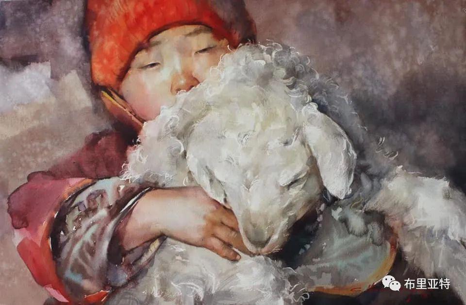 蒙古国少有的水彩画大师孟赫巴特尔作品欣赏 第26张