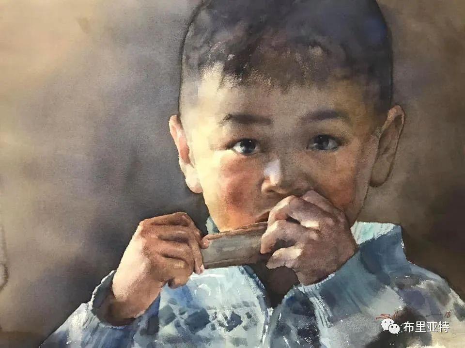 蒙古国少有的水彩画大师孟赫巴特尔作品欣赏 第28张