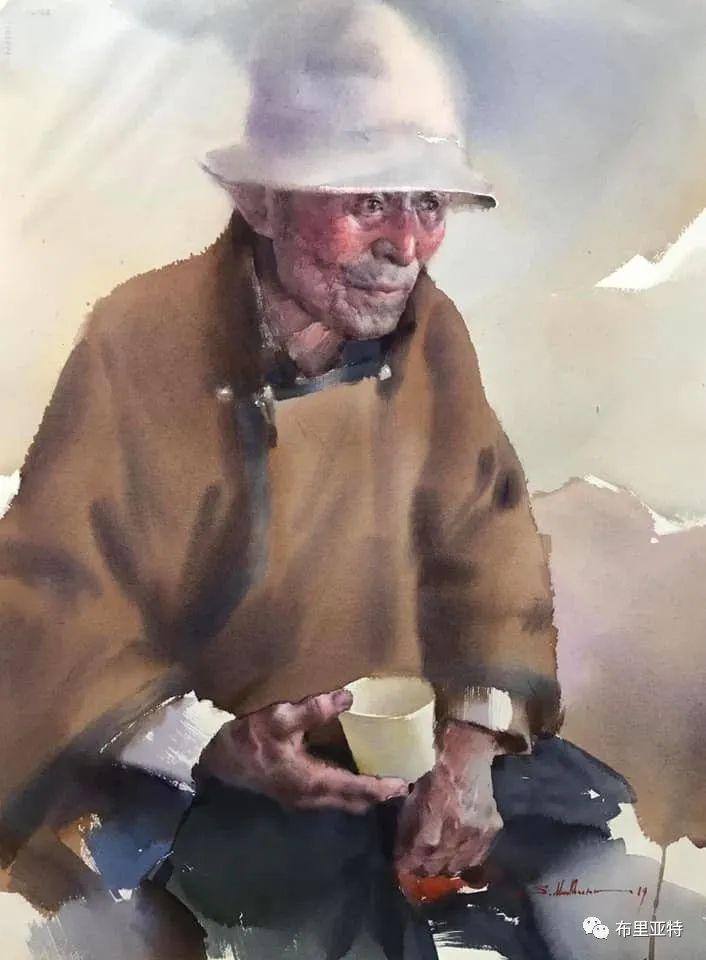 蒙古国少有的水彩画大师孟赫巴特尔作品欣赏 第35张