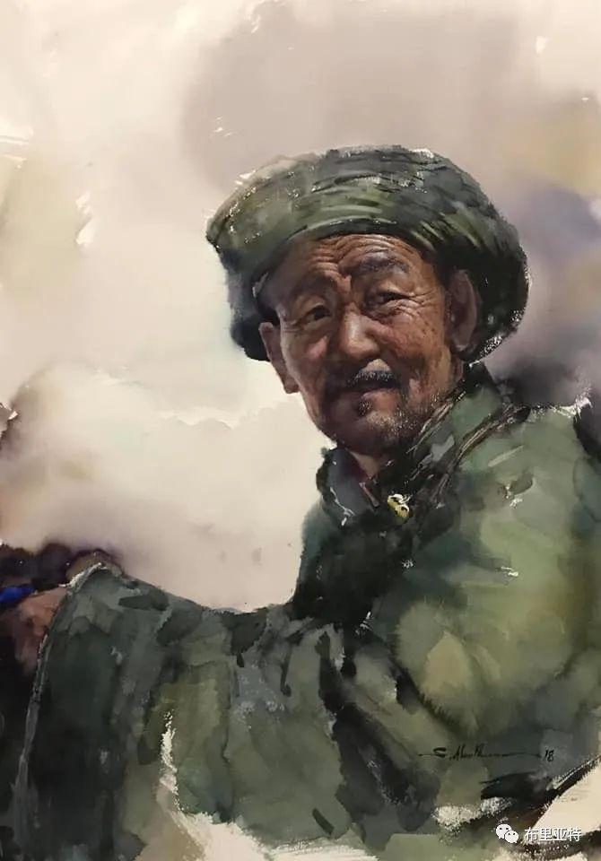 蒙古国少有的水彩画大师孟赫巴特尔作品欣赏 第32张