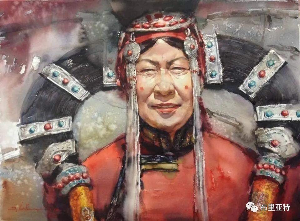 蒙古国少有的水彩画大师孟赫巴特尔作品欣赏 第31张