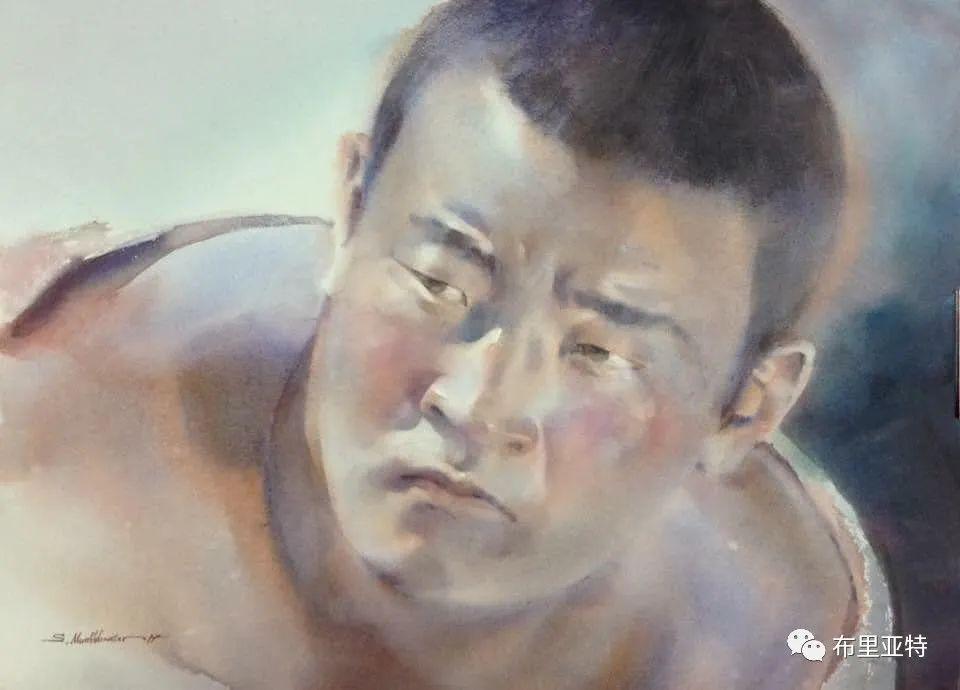 蒙古国少有的水彩画大师孟赫巴特尔作品欣赏 第36张