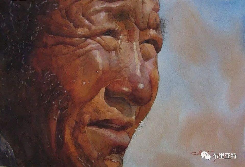 蒙古国少有的水彩画大师孟赫巴特尔作品欣赏 第37张