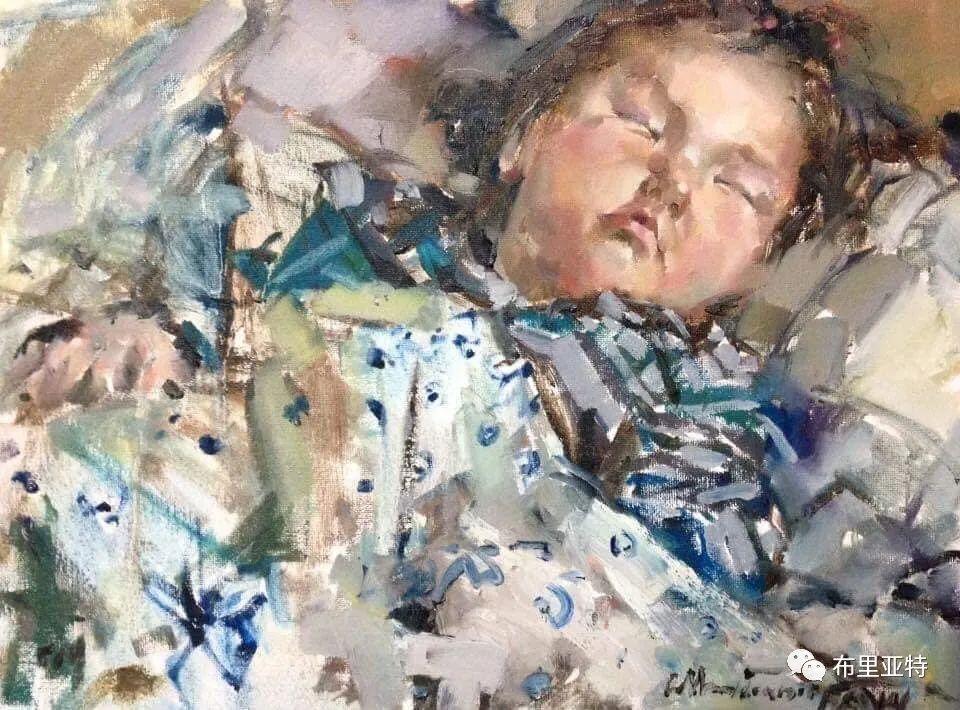 蒙古国少有的水彩画大师孟赫巴特尔作品欣赏 第40张