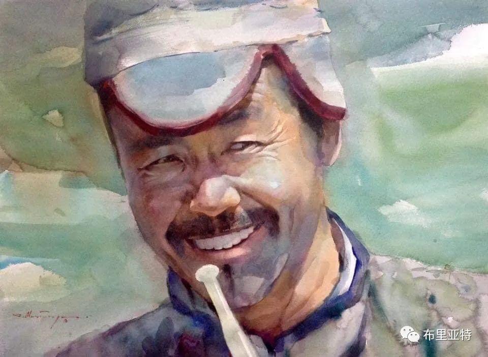 蒙古国少有的水彩画大师孟赫巴特尔作品欣赏 第38张