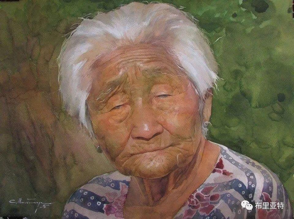 蒙古国少有的水彩画大师孟赫巴特尔作品欣赏 第41张