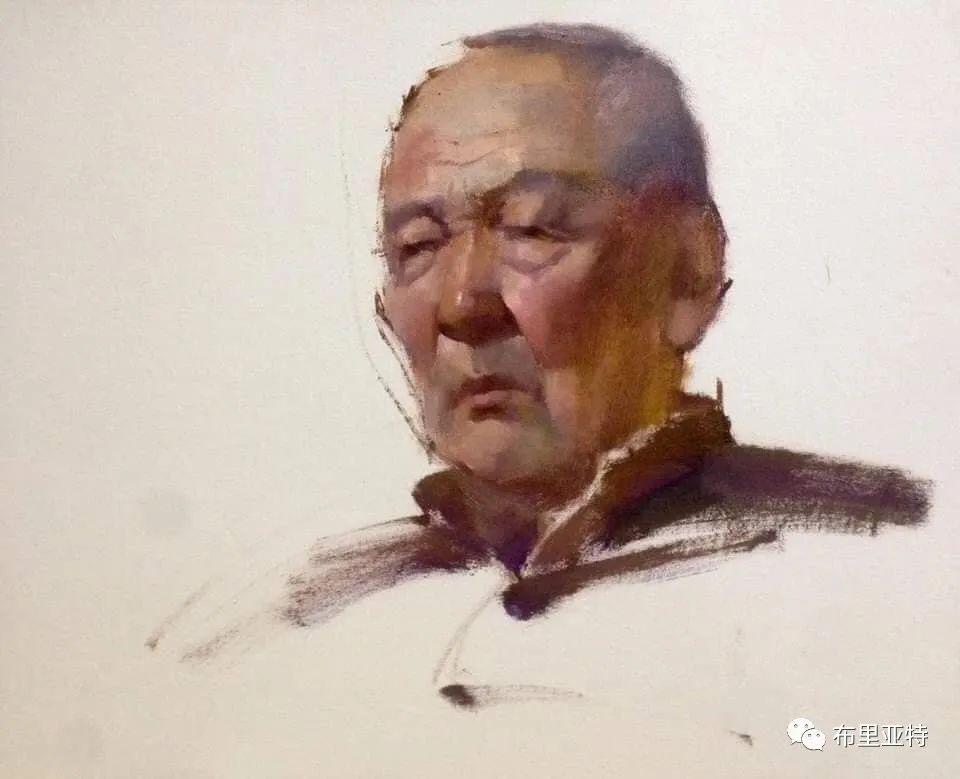 蒙古国少有的水彩画大师孟赫巴特尔作品欣赏 第42张