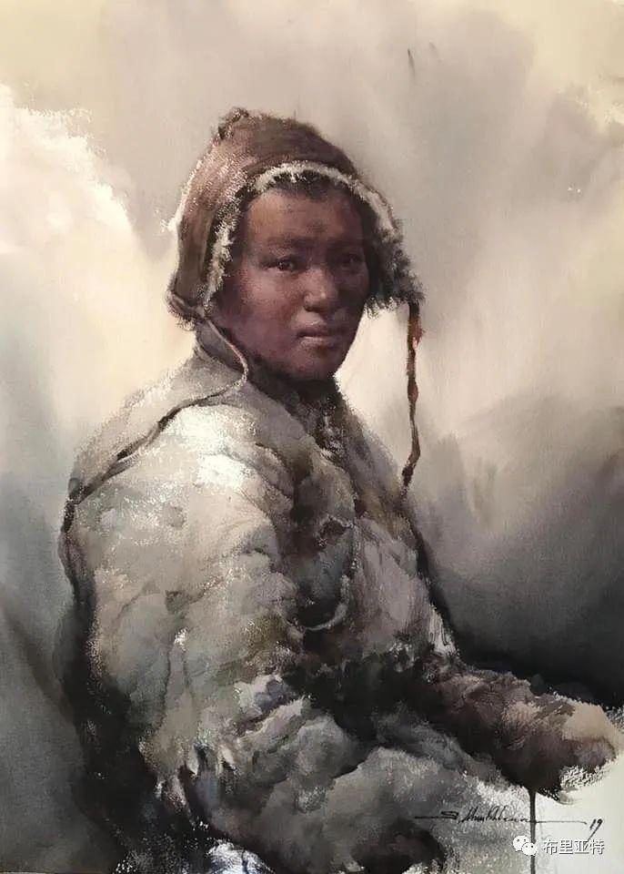 蒙古国少有的水彩画大师孟赫巴特尔作品欣赏 第43张
