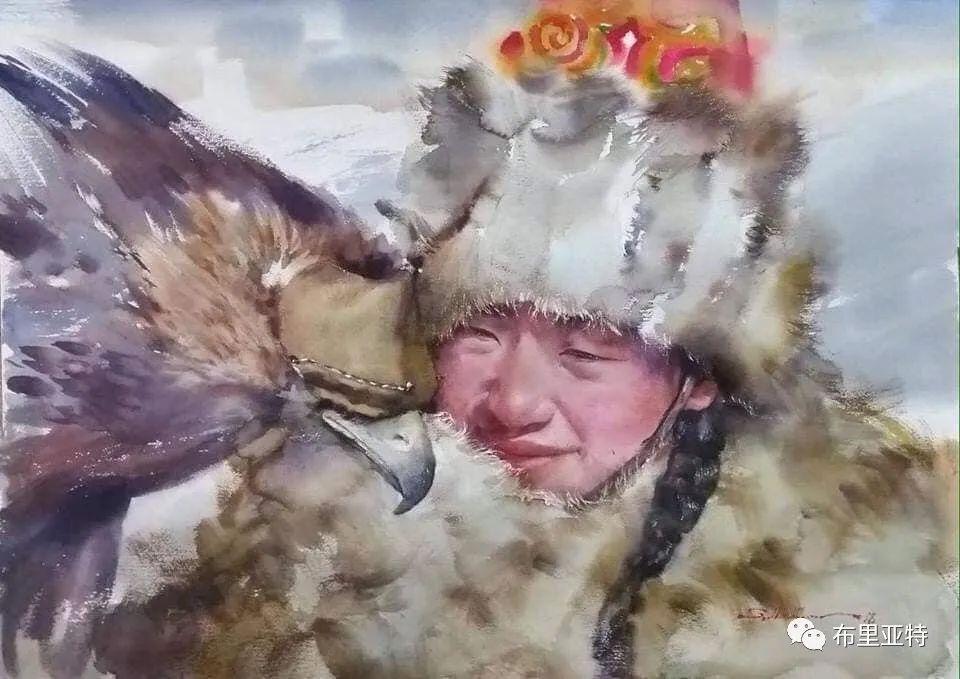 蒙古国少有的水彩画大师孟赫巴特尔作品欣赏 第44张