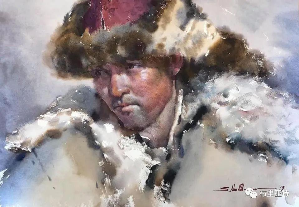 蒙古国少有的水彩画大师孟赫巴特尔作品欣赏 第45张