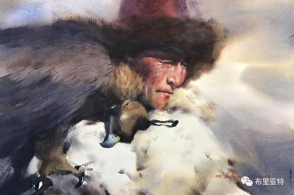 蒙古国少有的水彩画大师孟赫巴特尔作品欣赏 第48张