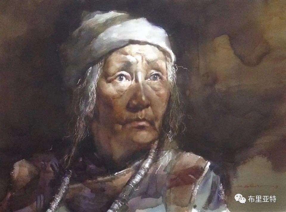 蒙古国少有的水彩画大师孟赫巴特尔作品欣赏 第47张