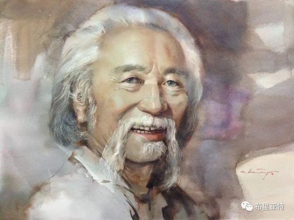 蒙古国少有的水彩画大师孟赫巴特尔作品欣赏 第54张