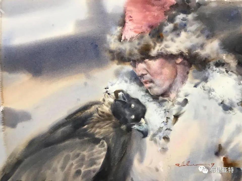 蒙古国少有的水彩画大师孟赫巴特尔作品欣赏 第56张