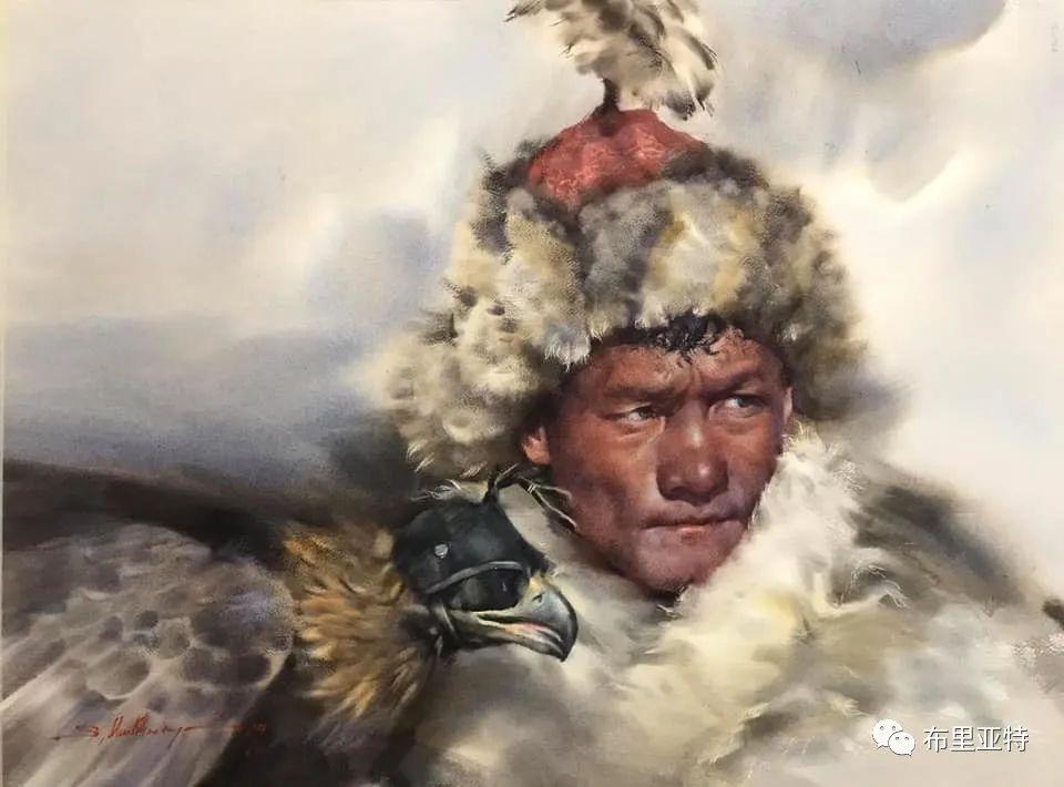 蒙古国少有的水彩画大师孟赫巴特尔作品欣赏 第52张