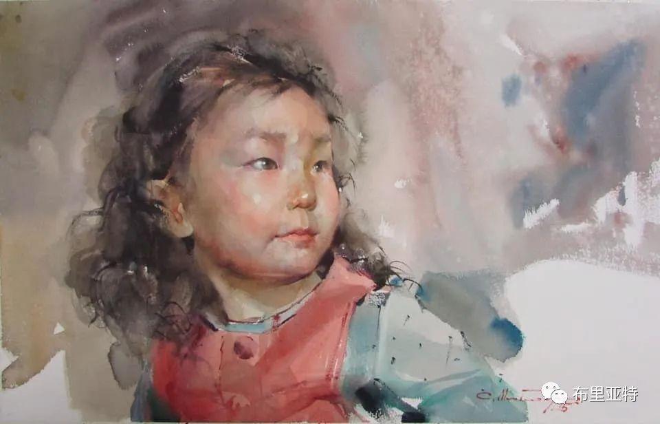 蒙古国少有的水彩画大师孟赫巴特尔作品欣赏 第55张