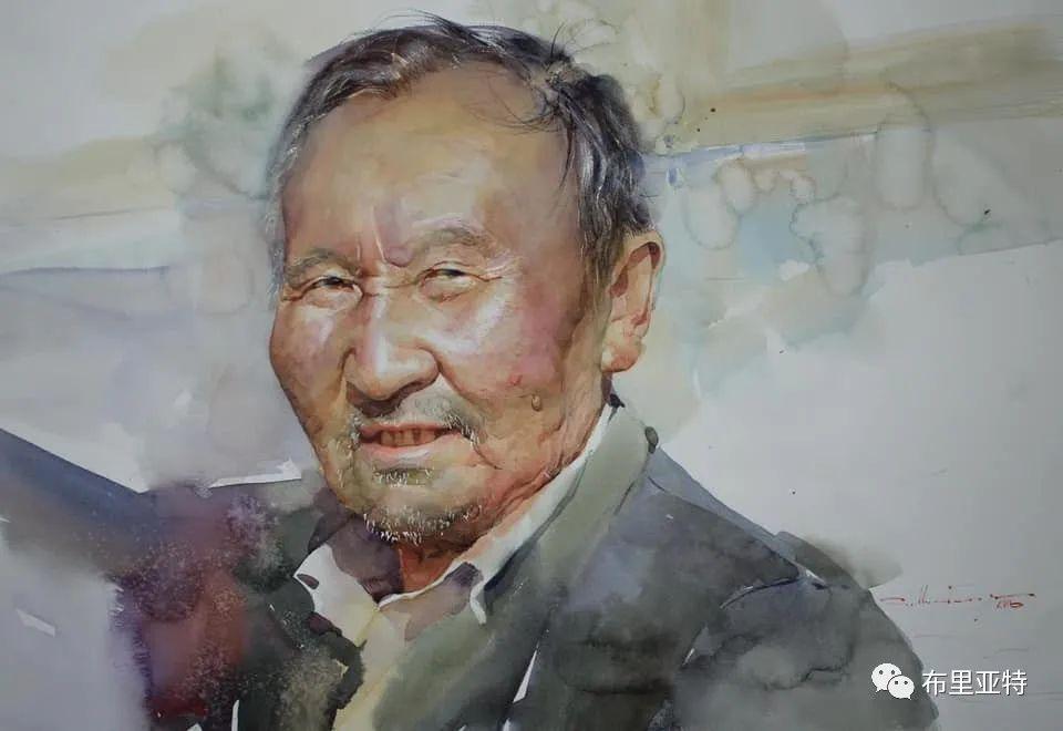 蒙古国少有的水彩画大师孟赫巴特尔作品欣赏 第61张