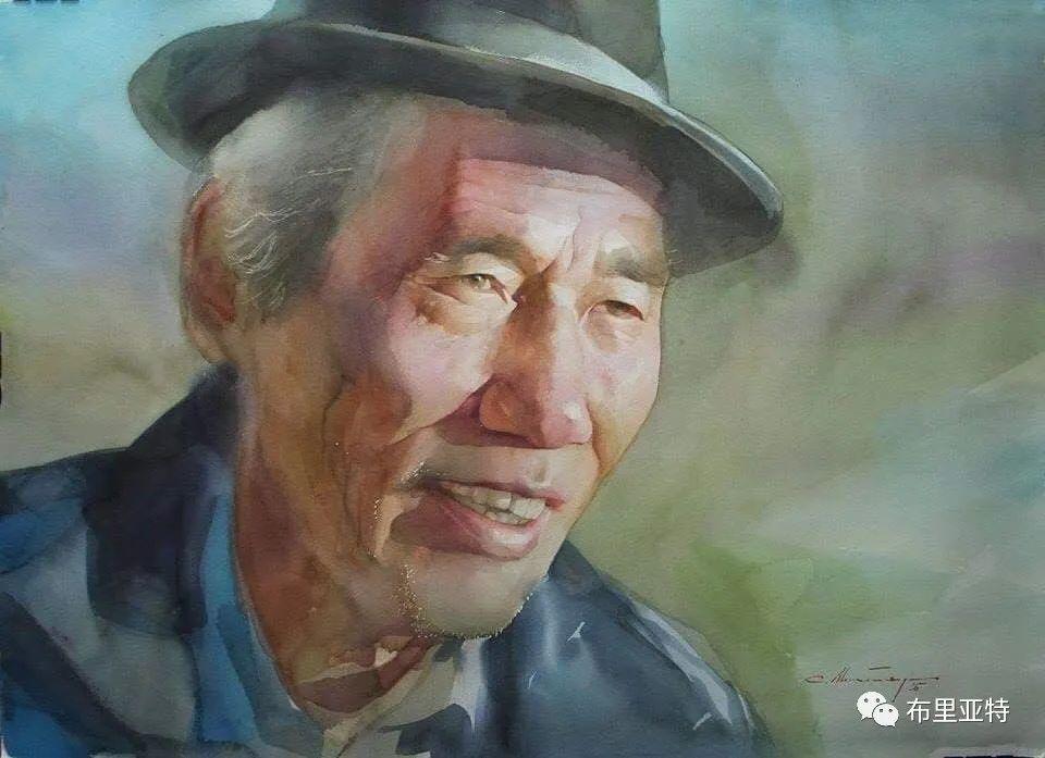 蒙古国少有的水彩画大师孟赫巴特尔作品欣赏 第60张