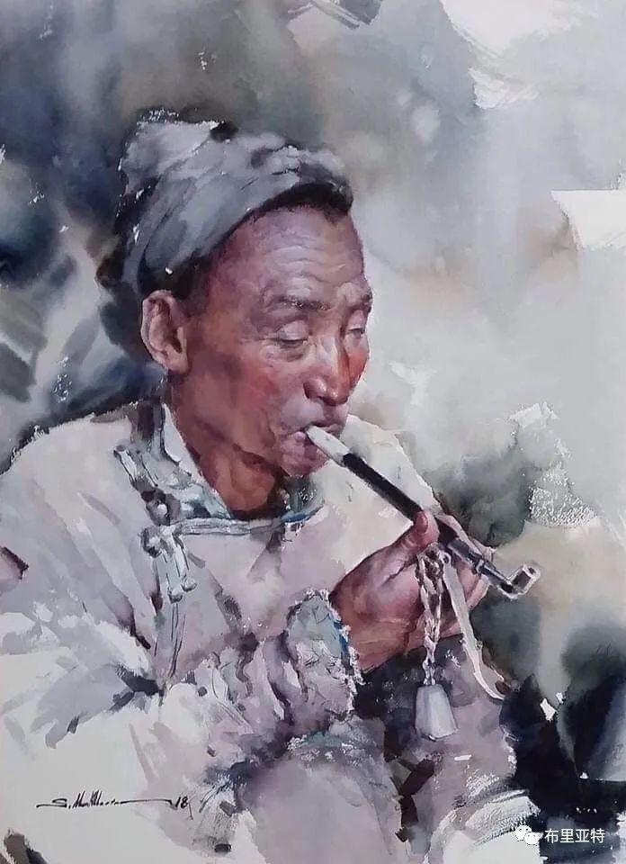 蒙古国少有的水彩画大师孟赫巴特尔作品欣赏 第59张