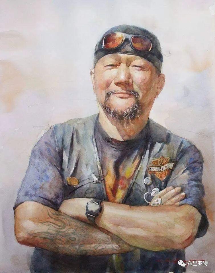 蒙古国少有的水彩画大师孟赫巴特尔作品欣赏 第57张
