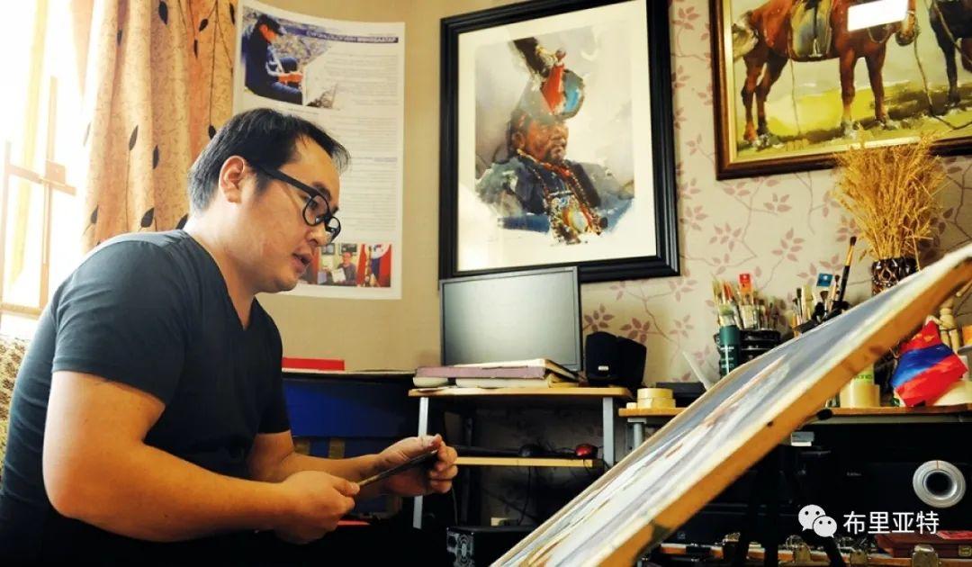蒙古国少有的水彩画大师孟赫巴特尔作品欣赏 第66张