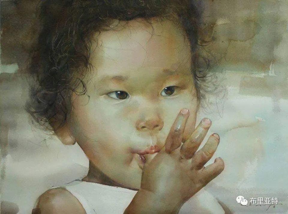 蒙古国少有的水彩画大师孟赫巴特尔作品欣赏 第62张